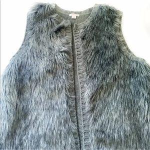Xhilaratin Faux Fur Vest grey Size L